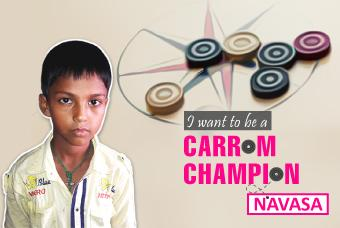 Navasa Wants to Make His Fortune In Carrom